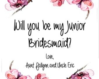 Junior Bridesmaid // Junior Bridesmaid Card // Personalized
