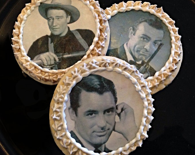 Edible Old Hollywood Cupcake, Cookie & Oreo Toppers - Wafer Paper or Frosting Sheet