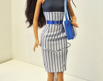 Handmade Barbie Doll Clothes - Business Dress