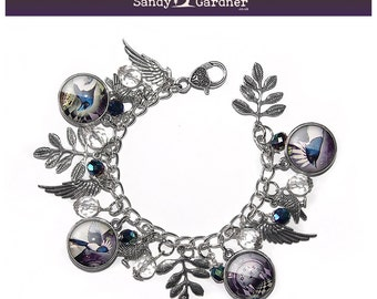 Magic of the Magpie Charm Bracelet by Sandy Gardner