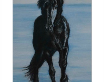 Spirit of Freedom,  Fine Art Print from my original Pastel painting, part of The Herd Series.