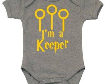 Harry Potter Onesie | Harry Potter Baby Clothes | I'm a Keeper Onesie | Harry Potter Baby Shower Gift