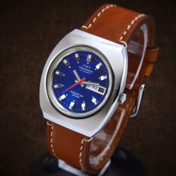 Technos hibeatron 36000 automatic mens watch with rare for Technos watches