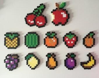 Fruit Magnets Perler Bead