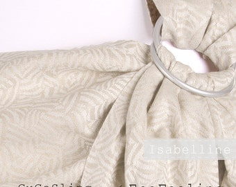 GuGaSling Isabelline/Baby sling ring/Baby ring sling/Baby wrap/Baby carrier/Linen/Silk/Old shcool/Gift bag