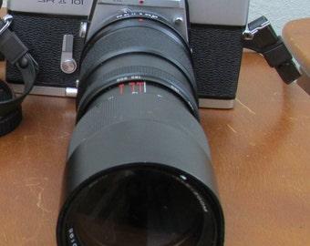Vintage Minolta SR-T 101 SLR TTL 35mm Film Camera Vivitar 85-205mm 1:3.8 Auto Tele-Zoom Lens