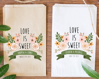 Custom Wedding Candy Bags, Custom Favor Bags, Brown Kraft Bag-BWE-44/BWE-02