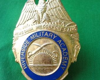 Riverside Military Academy Hat Badge