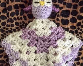 Purple Crochet Blanket Buddy