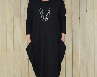Plus Size Lagenlook Tunic Top Quirky Cotton Dress UK 14 16 18 20 22 24 /US 12 14 16 18 20 22 - 8761