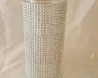 Diamond Rhinestone Wrapped Glass Vase