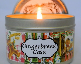 Gingerbread Casa soy candle (Gingerbread house)