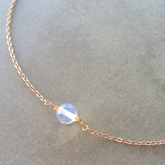 Floating Gemstone Necklace Gemstone Bead Necklace