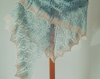 Lace shawl/blue shawl/ladies shawl/wedding shawl/summer wrap/small shawl