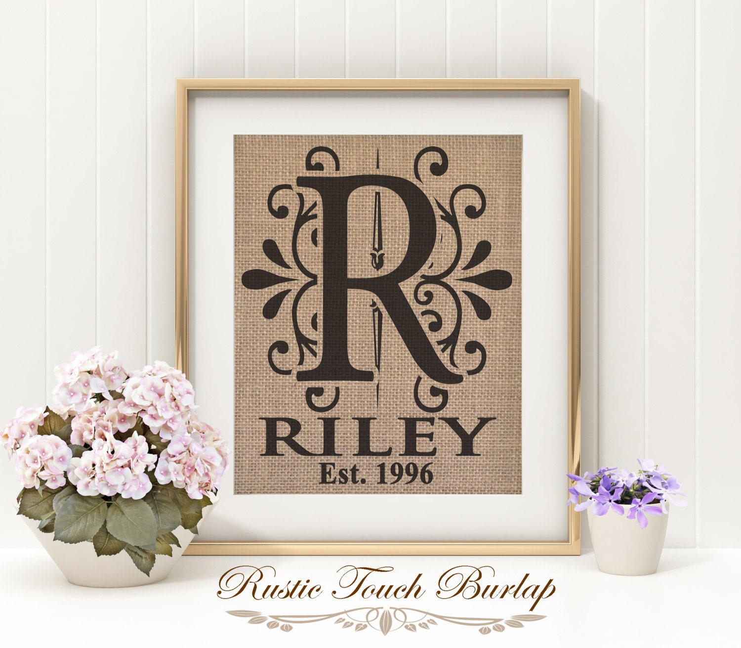 personalized wedding gift bridal shower gift last name gift
