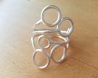 Sterling silver bubbles ring