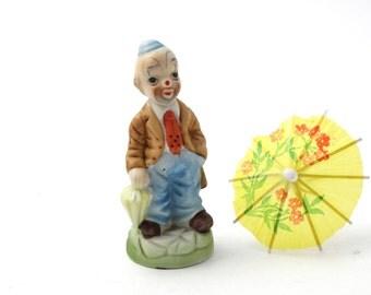 Vintage clown  - Ceramic clown figurine - Funny man figurine - Clown decor - Circus decor - Ceramic figurine - Collectible figurine
