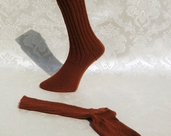 Hand knitted socks, Gr. 38/39, rust