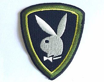 PLAYBOY patch Embroidered patch Iron on patch Sew on patch Applique