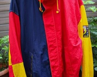LIFE OCEAN / Hilfiger / Nautica Style jacket Color Block size L