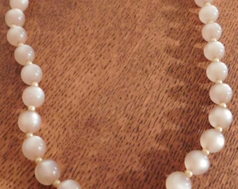 Vintage Champagne Moonglow Choker