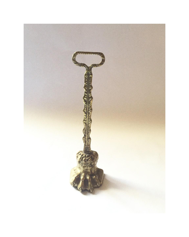 Lion Paw Door Stop Antique Brass Ornate Door Stop Door