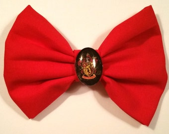Harry Potter Inspired Gryffindor Hair Bow with Clip
