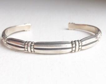 Sterling Silver Bohemian Cuff Bracelet
