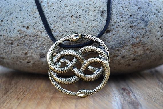 neverending story antique brass necklace auryn necklace