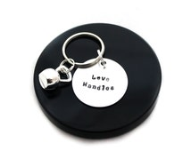 Kettlebell keychain, love handles, gym bag accessory, fitness keyring, crossfit jewelry, gift for her, gym gift, personal trainer gift