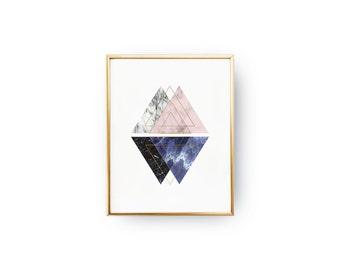 Nordic Style, Marble Print, Marble Decor, Geometric Print, Scandinavian Art, Minimalist Poster, Wall Decor, Modern Home Decor, 11x17 print.