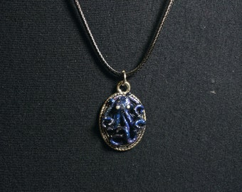 Galaxy Octopus Oval Cameo Necklace