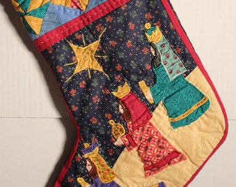 Quilted and appliqued Christmas Stocking