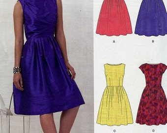 FREE US SHIP New Look 6223 Boatneck Classic Dress 4 looks Out of Print Size 8-18 Bust 31 32 34 36 38 40 Sewing Pattern Factory Folded Unused