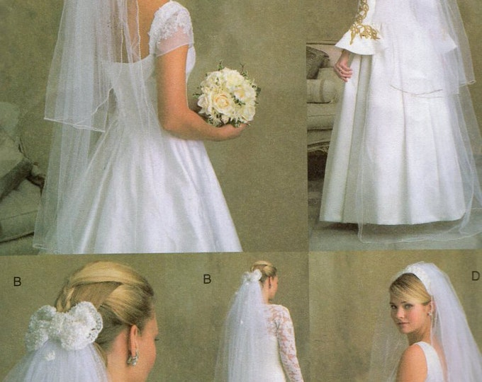 Free Us Ship Sewing Pattern Vogue 7861 Wedding Bride Bridal Headpieces Veils Uncut 2004 Out of Print