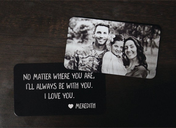 Personalized Wallet Card Black with Free Gift Box Etched