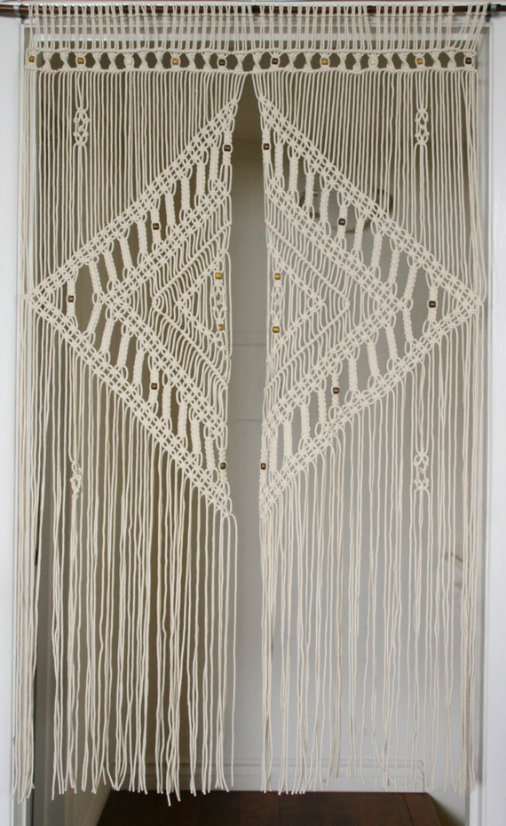 2 5 Mm Macrame Door Curtain With Large Diamond