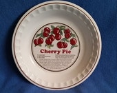 Cherry Pie Dish with Recipe