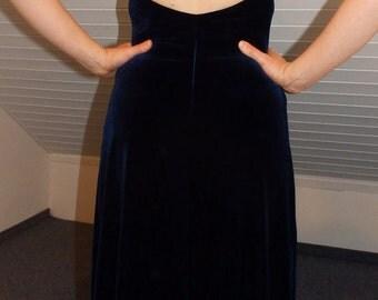dark blue carrier velvet dress blue velvet long dress