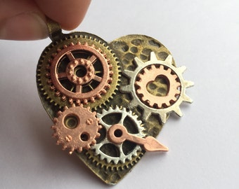 Steampunk & Hearts Necklace