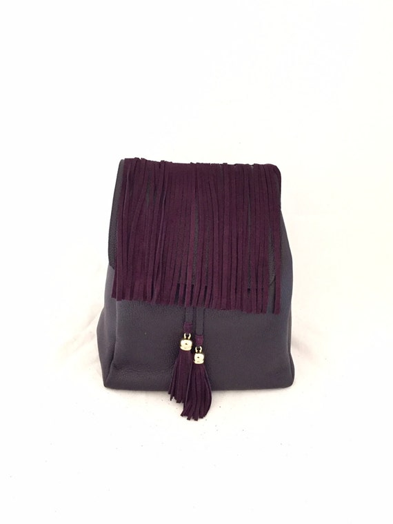 Trendy BackPack Bordeaux Medium Large Leather Bag OLA Olaccessories FREE SHIPPING