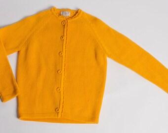 Mustard Hand Loomed Cardigan