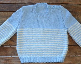 18 month 100% merino wool hand knitted jumper