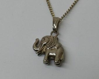 Trailers elephant silver 800 charm vintage SK245