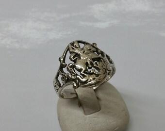Ring silver of 800 Saint George Patron Saint SR578 antique