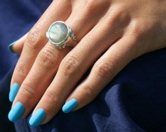Labradorite Dome Ring