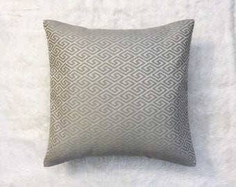 "Grey Diamond Upholstery Pillow Cover | Cushion Cover | Throw Pillow Cover | Decorative Pillow Cover | Envelope Closure | 18""x18"""