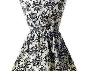White Damask Dress