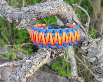 King Cobra 550 Paracord Bracelet Orange/Blue