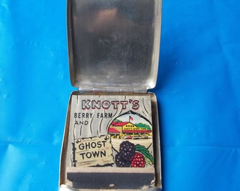 Sterling Silver Match Book Cover Hasset  Harper LTD Knotts Berry Farm Ghost Town Matches FREE SHIPPING